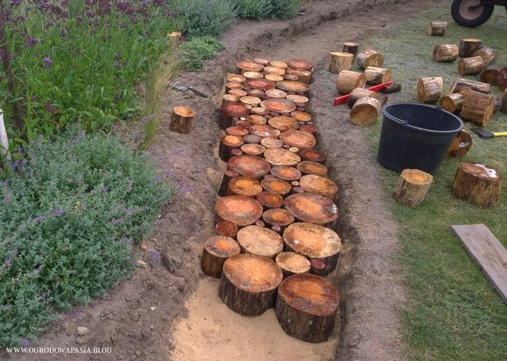 bruk drewniany układanie